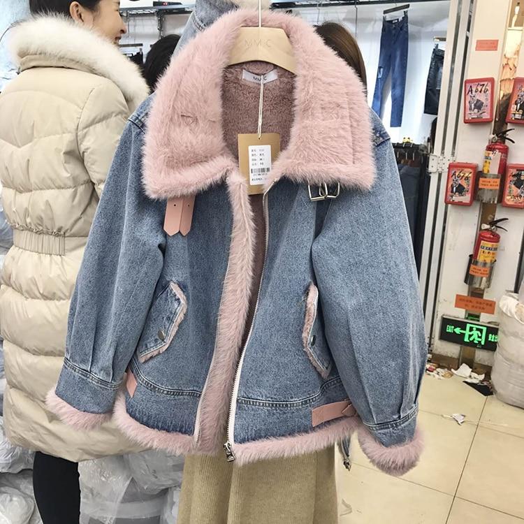 Veste Parka Marque Plus Femmes Réel De Beige Hiver Manteau Futro Naturalne Pour Fourrure rose Nouvelle Épais Coréens Vêtements L'hiver Chaude Taille BU5xqnwzx