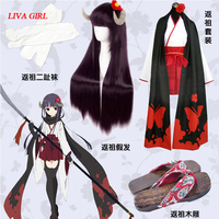 LIVA GIRL Hot anime Inu x Boku SS Shirakiin Ririchiyo Cosplay Costume Wig full set Free Shipping