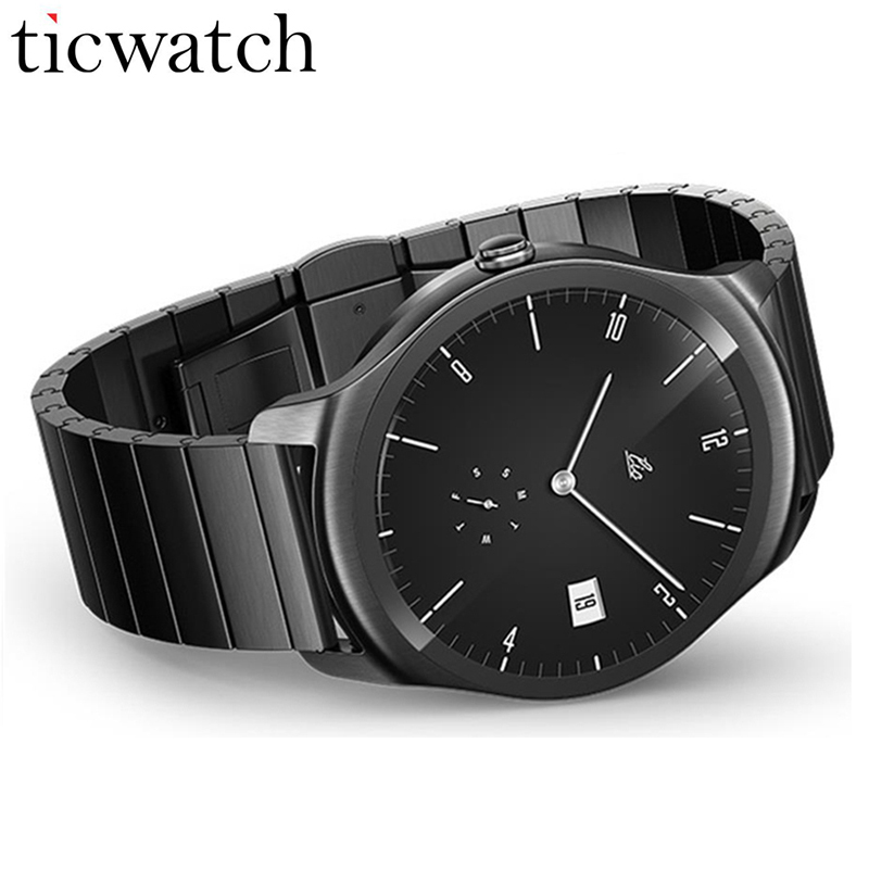 Original Ticwatch 2 Smartwatch MT2601 1.2GHz 512M RAM 4G ROM Waterproof Bluetooth 4.1 WiFi 802.11b/g/n GPS Smartwatch Phone