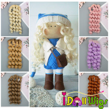 High Quality Hair Extensions Heat Resistant Wire Curly Wefts for Dolls DIY Doll Wigs