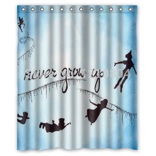 Custom Peter Pan Never Grow Up Idea Shower Curtain Amazing Decorate Your Bathroom In Curtains From Home Garden On Aliexpress