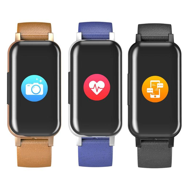 <font><b>T89</b></font> <font><b>TWS</b></font> Binaural Bluetooth Headphone Heart Rate Monitor Smart Wristband Tough Control Color Screen Smart Wacth with Mic image