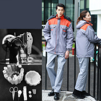 Men/Women Long Sleeve Working Cloth Winter Thickened Security Uniforms Workwear for Repairman Machine Auto Repair(Only Coat)