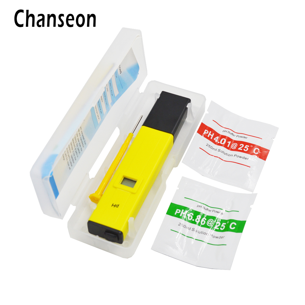 LCD Numérique PH Testeur de Poche Pen PH 0.0-14.0 Précis pour Aquarium Eau de Laboratoire Piscine Outils de Test
