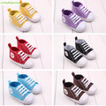 De 0 a 1 años 2 tamaños de Lona clásicos zapatos de bebé Primero caminante unisex niños niñas 2017 nueva buena calidad suave de algodón botton kid014