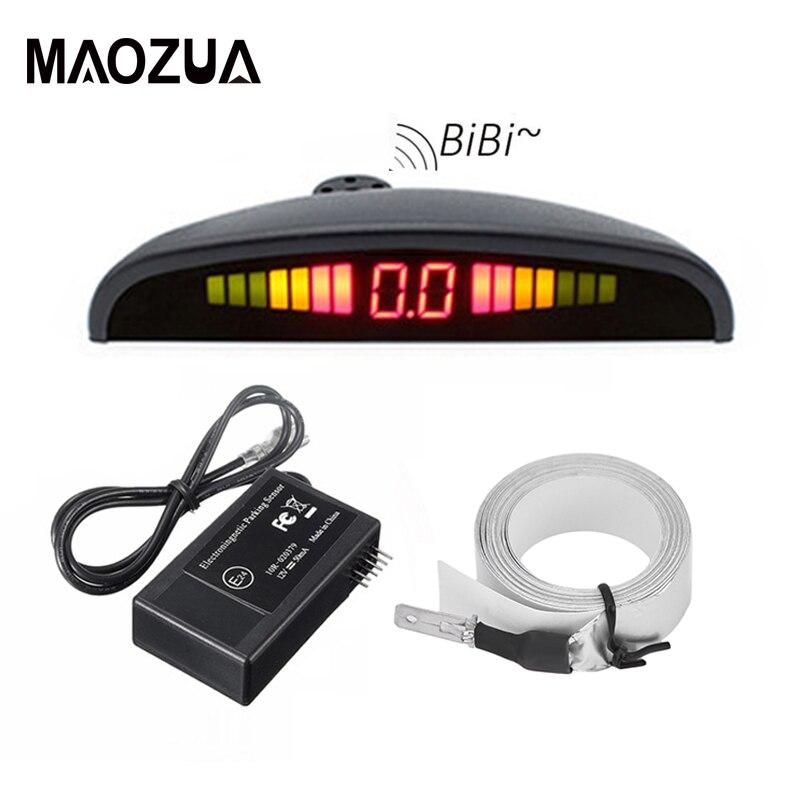 Maozua Parking Assistance Car Parking Sensor Electromagnetic Auto Reversing Radar Car Parking Radar Sensor With Led Buzzer