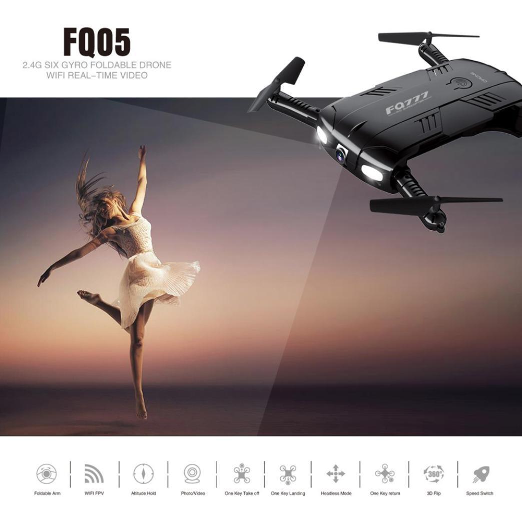 FQ777 FQ05 6 Axis Gyro 2 0MP Wifi Fpv Drone Camera Selfie Foldable Quadcopter