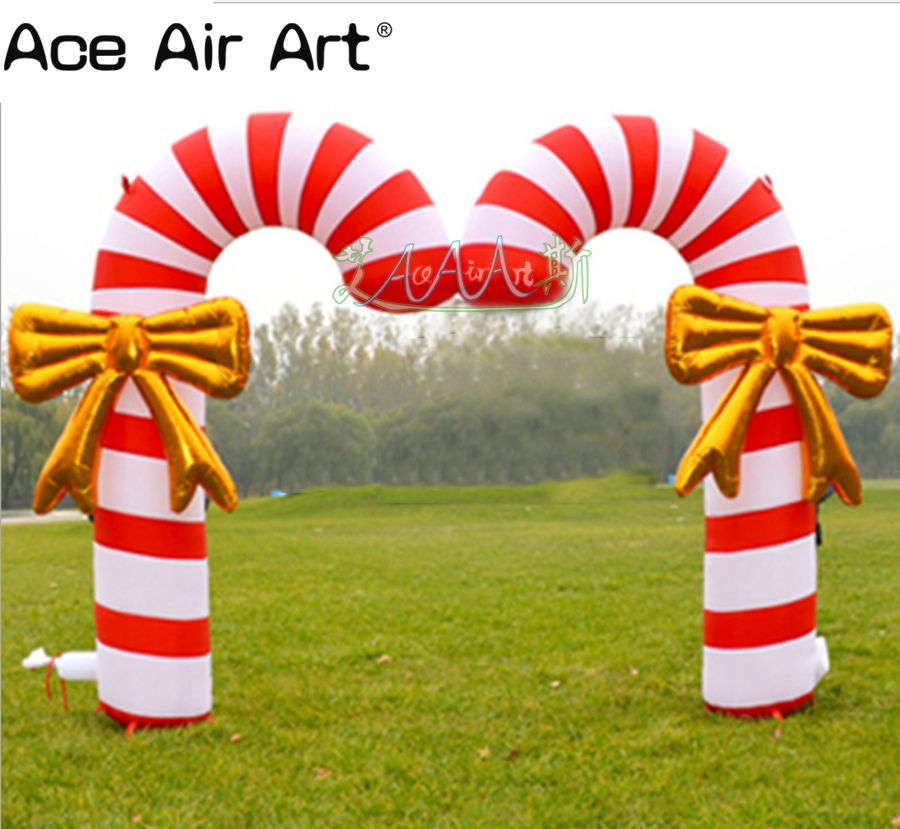 Free shipping giant outdoor Christmas arch lawn ...