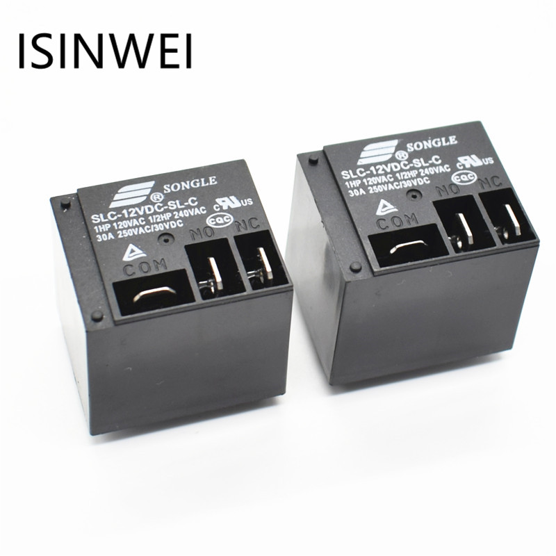 цена на Power Relays SLC-12VDC-SL-C 12V 30A T91 HF2100 A set of conversions 5PIN