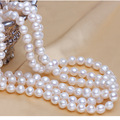 2015 Janeyre 100% cultured freshwater pearl necklace 59inches White real genuine long pearl necklace for woman Lover gift