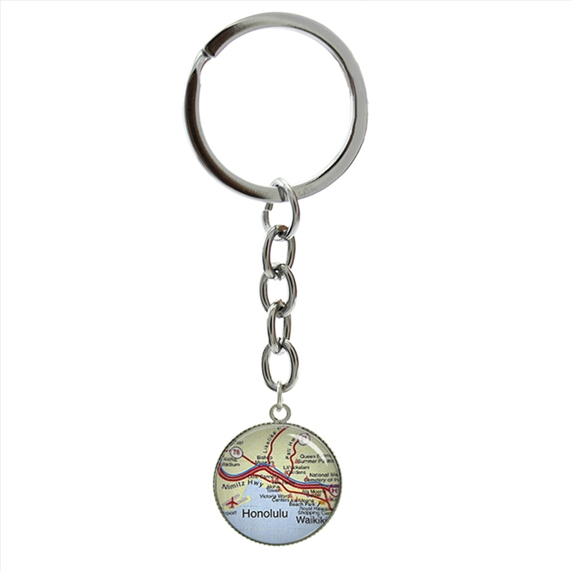 HONOLULU HAWAII KEYRING SOUVENIR LLAVERO