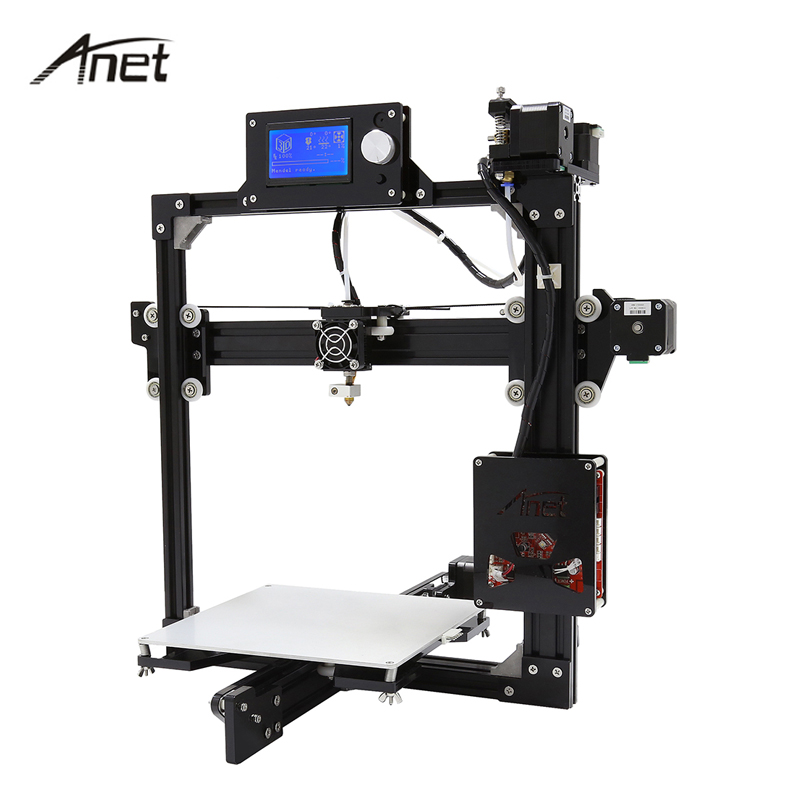 Anet Aluminium Structure 3D Printer Large Print Size DIY 3D Printer Kit LCD 12864 Screen Prusa i3 Three dimensions Printers anet a2 12864 large aluminium metal 3d printer with lcd display