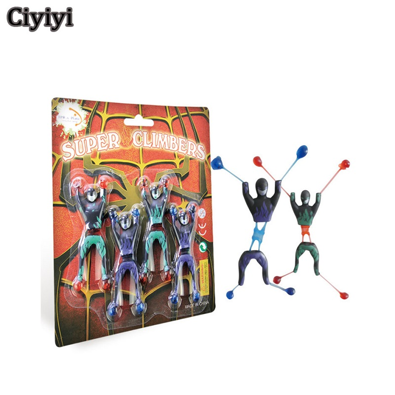 4pcs/Lot Super Climber Stikbot Action Figure Toy Cartoon Spider Man Stik bot Funny Play Collection Jouet Children Birthday Gift super cool new arrival 6pcs lot spider man minifigures action figure toy children birthday and christmas gift