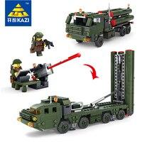 Militär Ziegel Blöcke Feld Armee Raketenstart Fahrzeug mit 2 Soilders Puppen Hohe Qualität Geschenk Spielzeug Kinder Technic Kazi84037