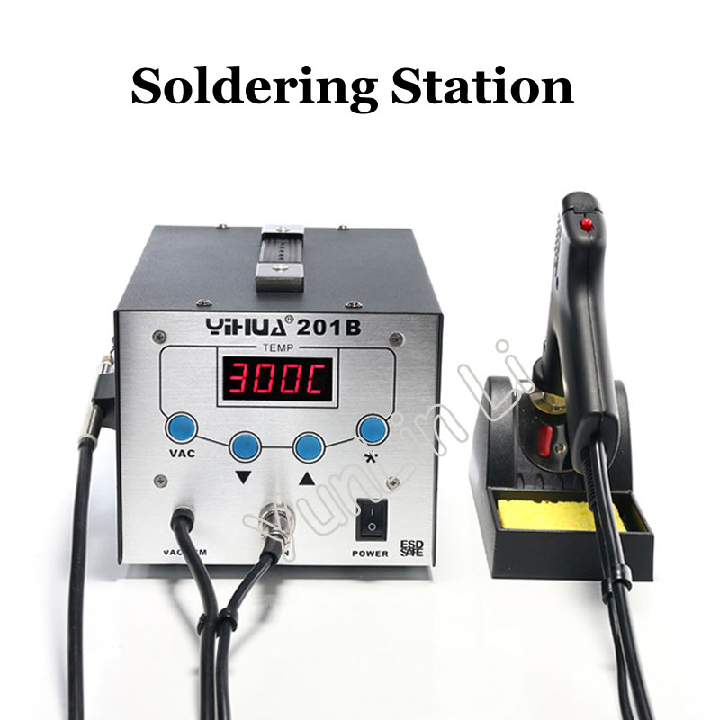 Soldering Station High Frequency Electric Suction Tin Gun Anti-static Suction Machine 201B
