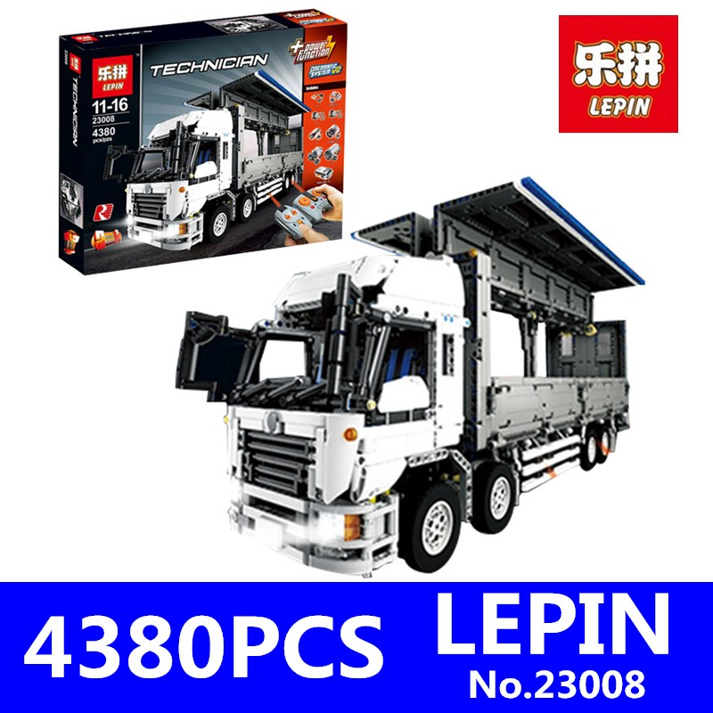 Technical Series LEPIN 23008 4380Pcs The MOC Wing Body Truck Set Educational Building Block Bricks Children Toys Model Gift 1389 lepin 22001 pirate ship imperial warships model building block briks toys gift 1717pcs compatible legoed 10210