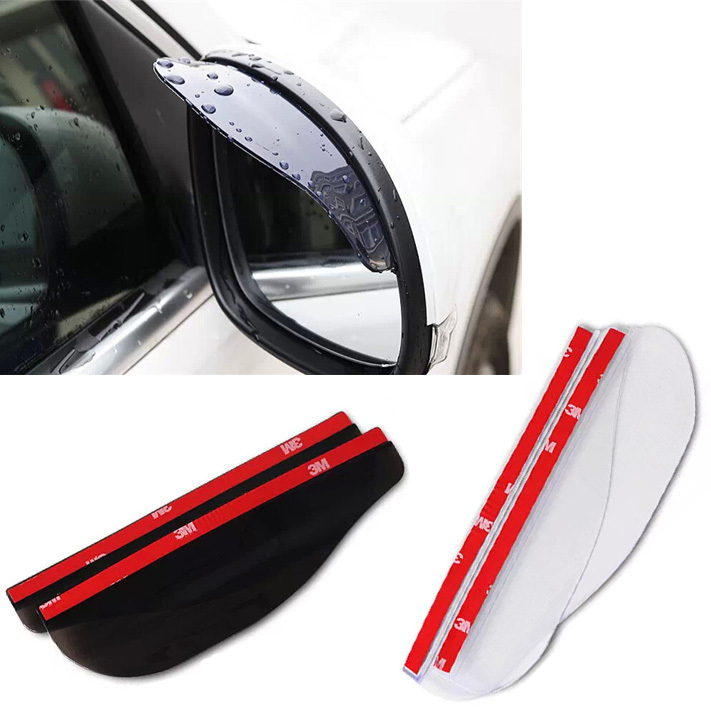 2pcs /pair Universal Rear View Side Mirror Rain Board Sun Visor Shade Shield Flexible Protector For Car Truck Suv Car Styling
