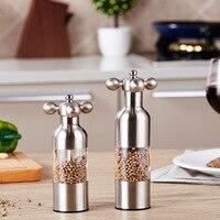 1 PCS Black Pepper Mill Garlic Grinding Spice Grinder Kitchen Creative Gadgets Pepper and Salt Grinder Grinding