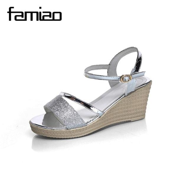 Zapatos Las 2017 Famiao Mujeres Verano Cuñas Casuales De Elegantes xqYx4w