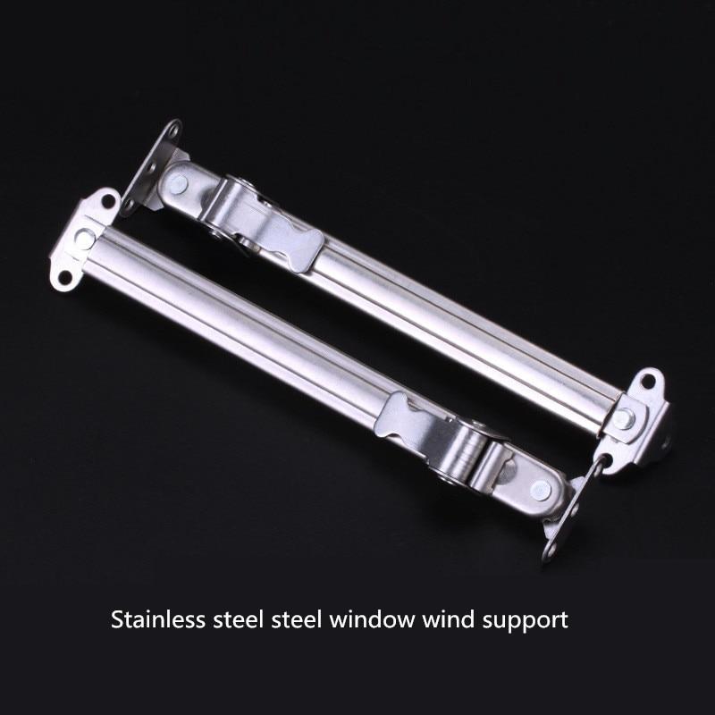 Envío gratuito ventana de plástico de acero inoxidable, soporte de viento, puerta de acero plástico y accesorios de ventana, limitador de ventana, puntal de ventana
