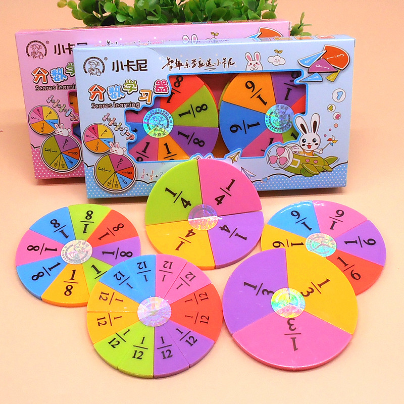Learning Resources Fraction Circles Mathematics Teaching Aids Board Plastic Baby Toys Child Educational Gift Math Toy