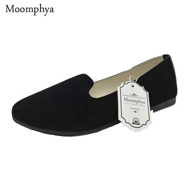 be2790b4a49 placeholder With Box Ladies Shoes Ballet Flats Women Flat Shoes Woman Black  Large Size 41 Casual Shoe