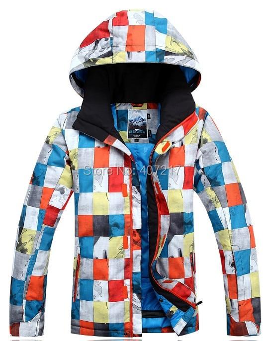 2015 mens ski jacket color block snowboarding jacket for men warm snow coat skiwear mountaineering jacket waterproof 10K warm color block panel bomber jacket