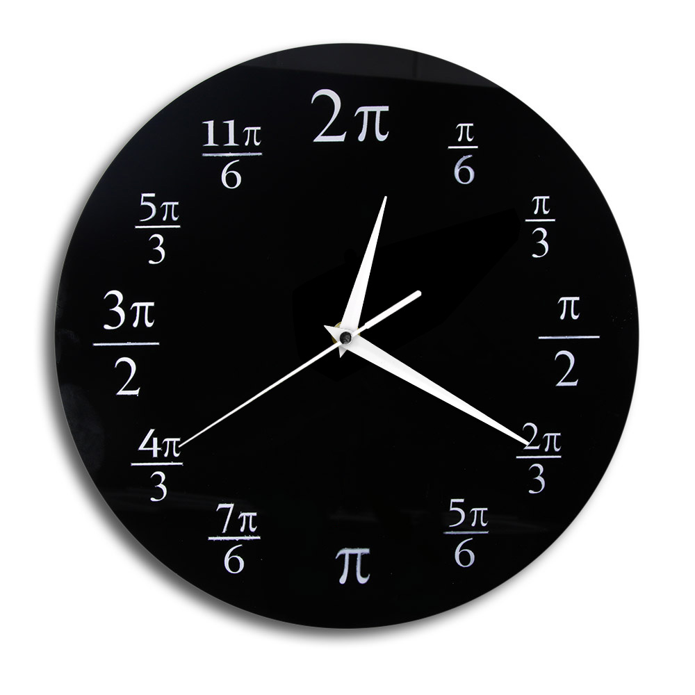 3.14 Pi Wall Clock Mathematical Pi Classroom Wall Decor Black Acrylic Pop Quiz Wall Clock Home Decor Geek Nerd Math Chic Gift