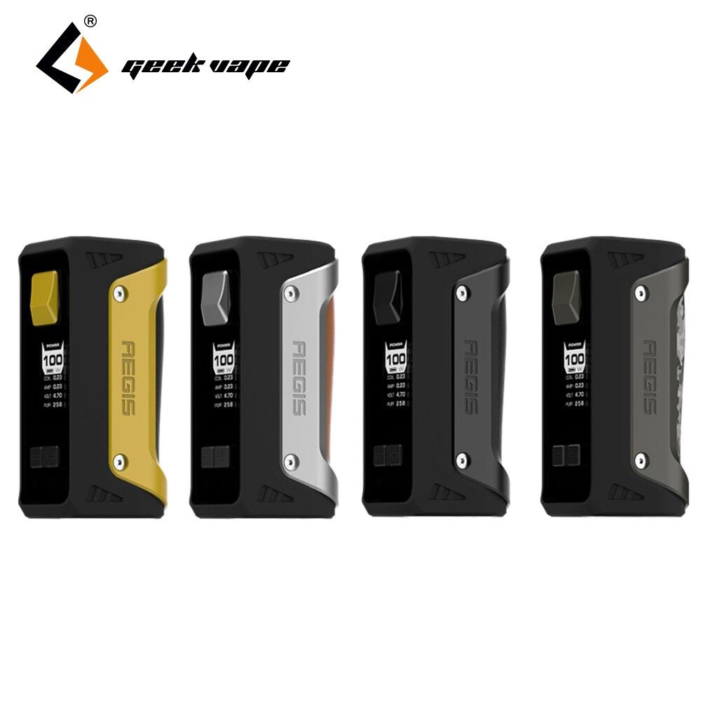 100% D'origine GeekVape AEGIS 100 w TC Mod de Boîte Étanche À La Poussière Antichoc coupe 18650 26650 batterie e-cig Mod vape pas de batterie