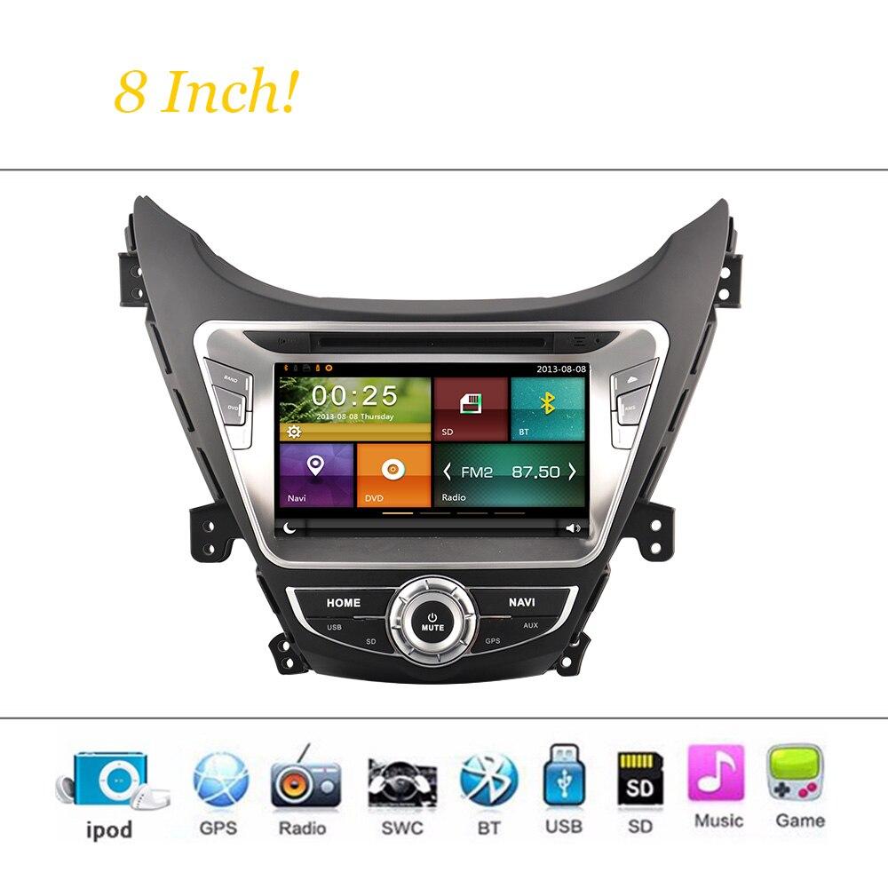 Wince Sistema de coches Reproductor de DVD Para Hyundai Elantra 2012- 8 Pulgadas