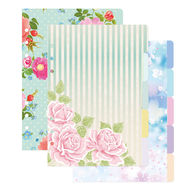 New candy homemade notebook dividers,candy flower pattern binder Index paper for planner/diary