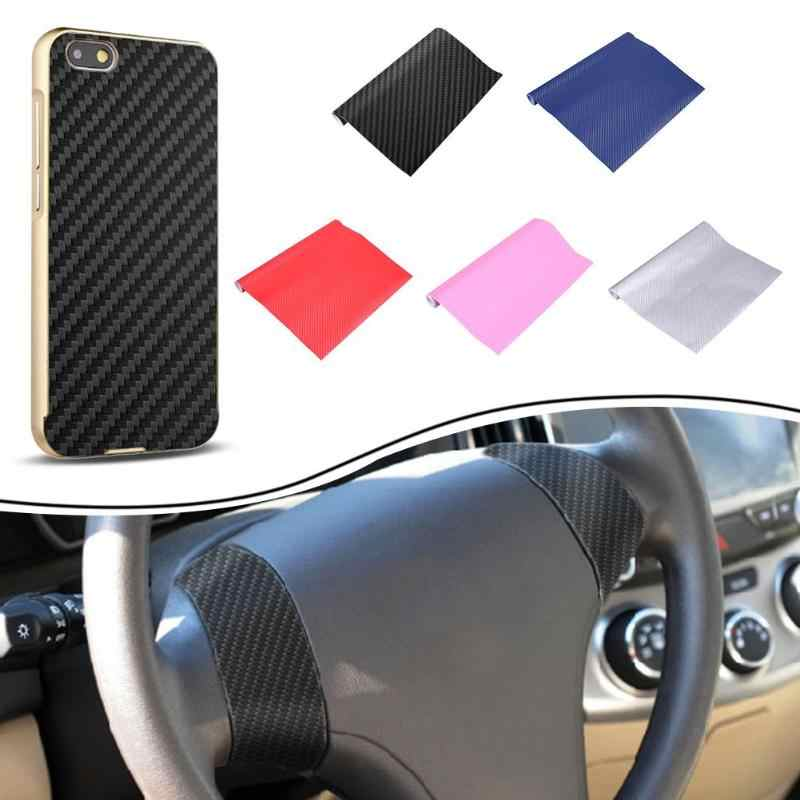 3D Serat Karbon Vinyl Mobil Wrap Lembar Film Gulung Kertas Tahan Air Sepeda Motor Stiker Mobil Stiker Mobil Styling Aksesoris