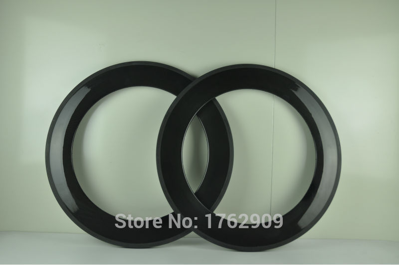 2Pcs New 700C 88mm Tubular Rims Track Fixed Gear Road Bicycle 3K UD 12K Full Carbon