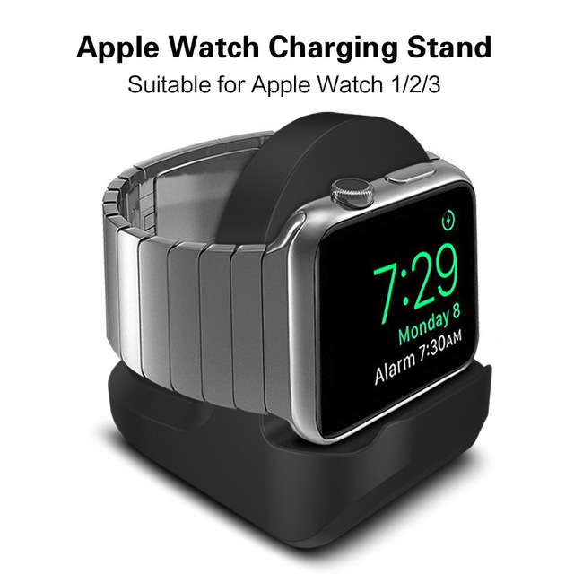 Silicone Stand For Apple Watch 1 2 3 38mm 42mm Desktop Holder Cable Management Charging Dock For Apple Watch Charger