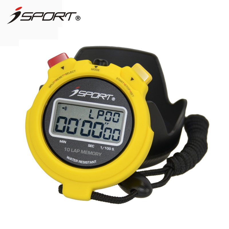 Electronic timer stopwatch handheld professional referee sports stopwatch seconds 10 laps memory outdoor fitness equipment 54g smael 1708b