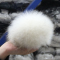 Colorful Raccoon 100% Fur Ball Fur Pom Poms For Women Winter Hat And Cap Beanies Fur Accessories In Apparel & Accessories 15CM