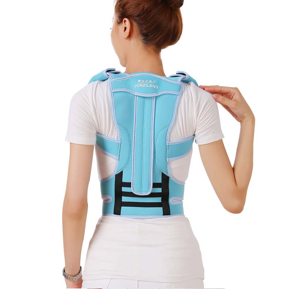 Professional Adult Aluminium Alloy Back Posture Brace Corrector Shoulder Support Band Belt Posture Correct Belt For Health Care vik max adult kids dark blue leather figure skate shoes with aluminium alloy frame and stainless steel ice blade