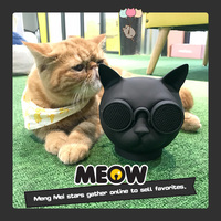 Excelvan T8 Cat Head Bluetooth Speaker Protable Mini Cute Speaker With Microphone Support TF Card