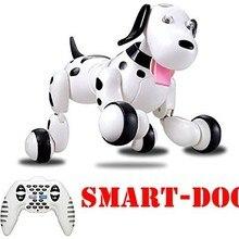 777-338 подарок на день рождения RC zoomer собака робот чиппик 2,4 G Беспроводной удаленного Управление Smart собак Электронный Pet Развивающие детские игрушка робот игрушки интерактивные игрушки собака робот zoomer