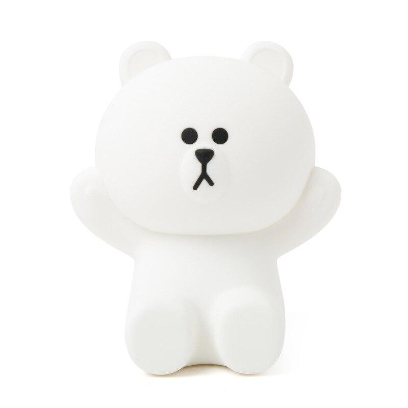 Urso marrom bonito urso lâmpada lampe lamparas