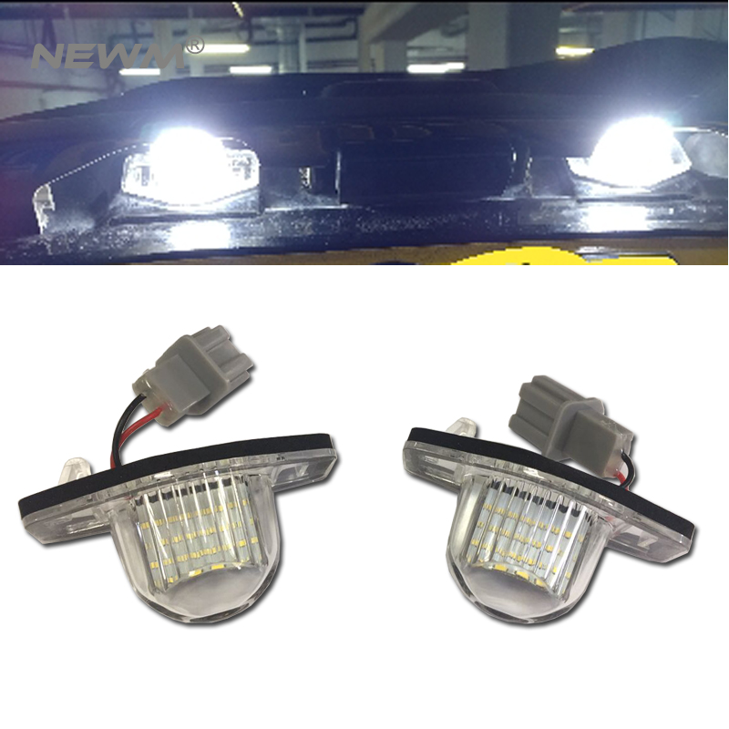 2 x Número de LED Lámparas de matrícula OBC Error 18 LED para - Luces del coche