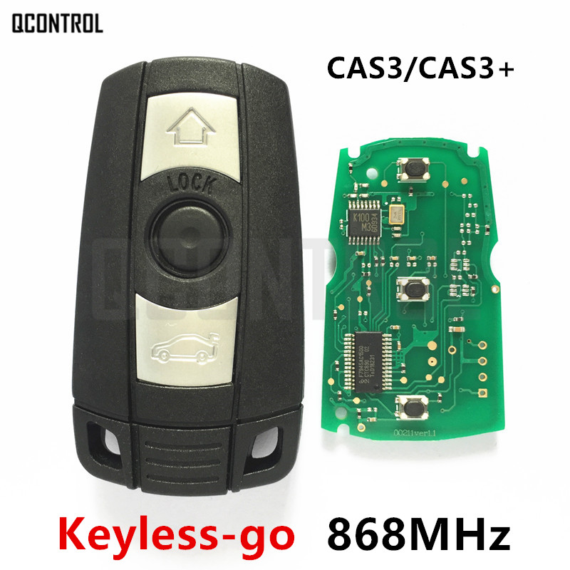 QCONTROL Comfort Access Remote Smart Key 868MHz for BMW 1/3/5 Series CAS3 X5 X6 Z4 Keyless-go Hands Free with ID46 Chip