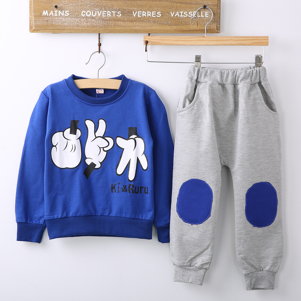 2015 Spring Autumn Children Cotton long-sleeved Track Suit Two Pcs Sport clothing Set Baby boys Girls Sets Shirt+pants