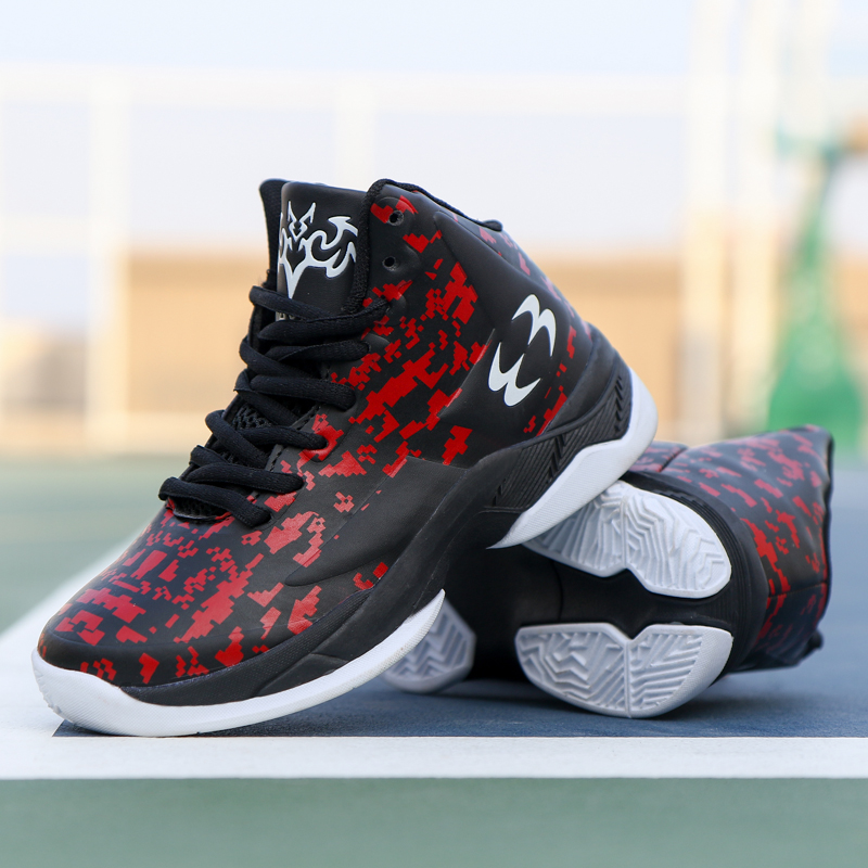 2909612ca6e70 Top semelle épaisse antidérapant résistant à l usure enfants baskets  garçons chaussures de Basket-ball en caoutchouc enfants chaussures de sport  Basket ...