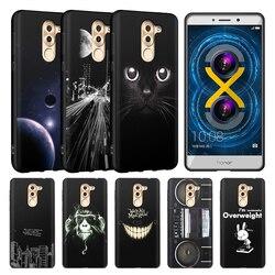 EiiMoo Téléphone étui pour Huawei Honneur 6X Étui En Silicone TPU Couverture Arrière Pour Huawei Mate 9 Lite/GR5 2017 Pour L'honneur 6X Coque