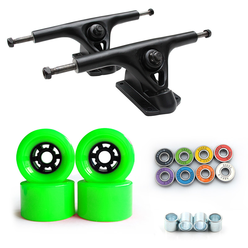 78A 90*52mm Longboard roues PU Skateboard 8 pouces pont Longboard camions ABEC-9 roulements bagues Skateboard route roues camion - 4
