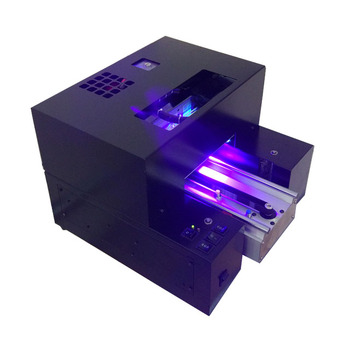 3D UV flatbed printer &A4 size Small desk-top printer &Phone case printing machine