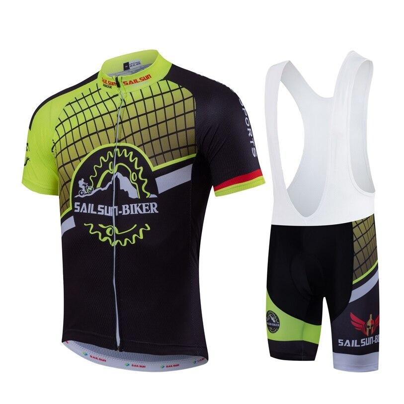 Prix pour Chaude Hommes Pro Cycling Jersey Top Bike Team Vêtements vtt été Mâle Vélo Shirt Veste de Sport À Séchage Rapide Vélo Court manches