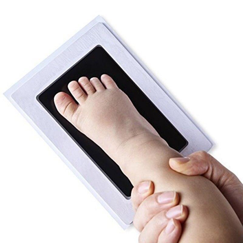 Baby Non-Toxic Handprint Footprint Kit Souvenir Stamp Pad Stamps Toys DIY Watermark Clay Toys