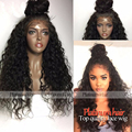 Beauty Kinky Curly Synthetic Lace Front Wig Black Curly Wig with Baby Hair Heat Resistant Glueless Lace Wigs for Black Women